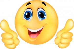 Vector illustration of Happy Smiley Emoticon Face