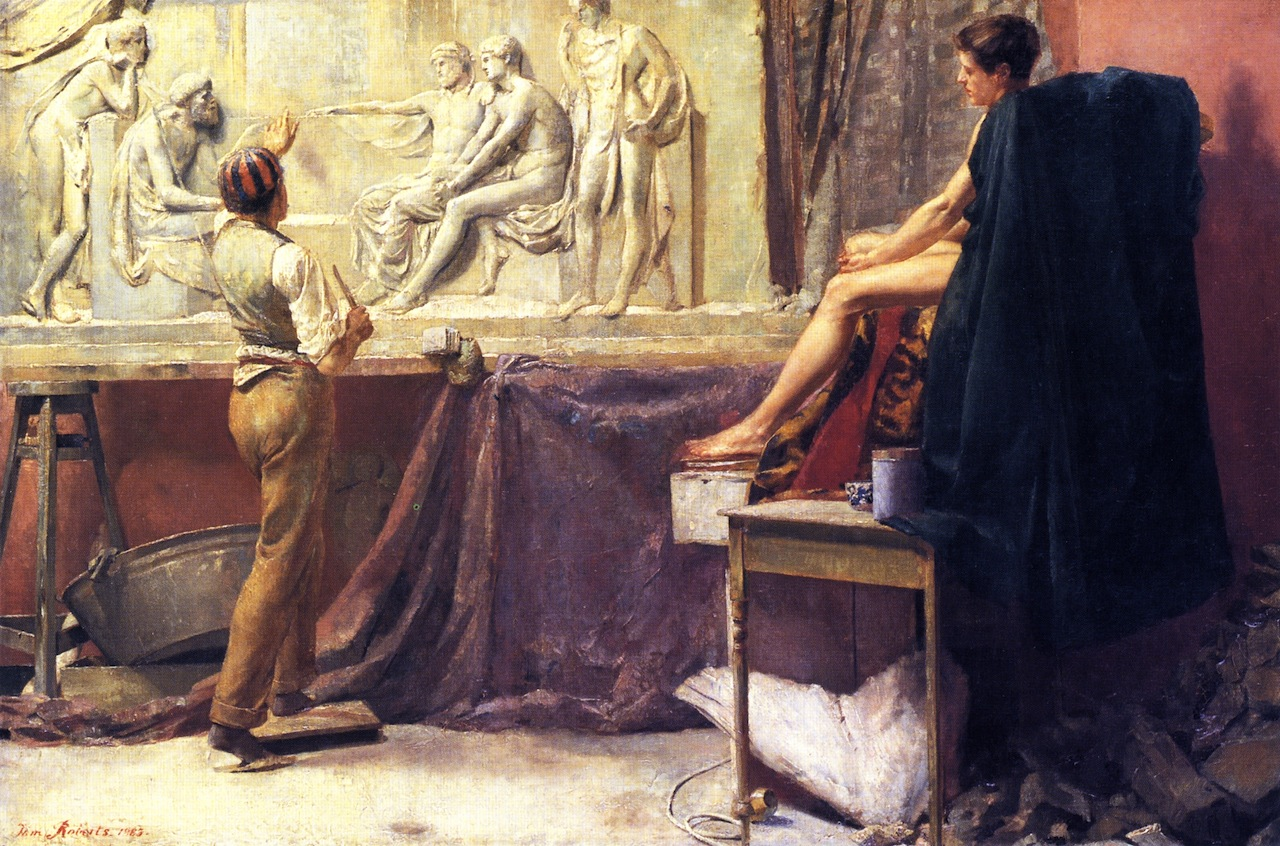 the-sculptor-s-studio-1885