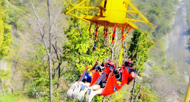 Kesari Tours Zip-lining or Flying Fox at Rishikesh