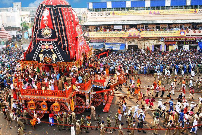 Celebration of the grand festival Ratha Yatra