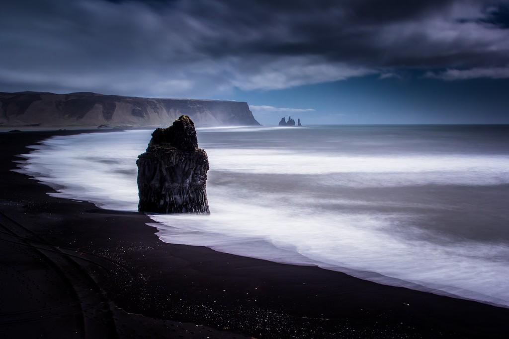 Eagle rock, Black Sand Beach, Iceland South Coast, iceland holidays, trips to Iceland, iceland trips, iceland tourism, Reynisfjara, black beach, europe best beaches, Reynisfjara beach