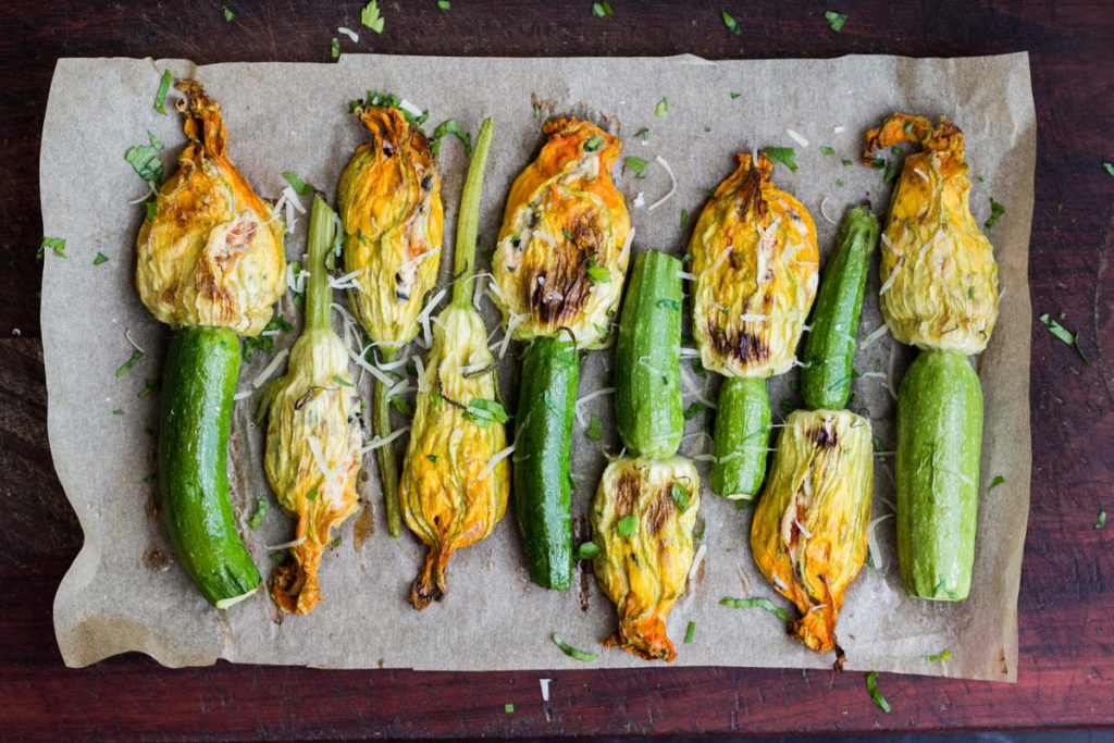 Stuffed zucchini flowers - kesari tours