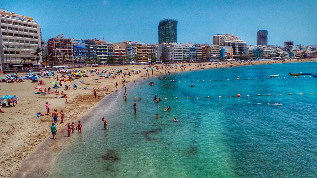 Canary Islands, Playadelas Canteras, Spain