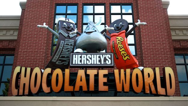 Hershey's chocolate world,